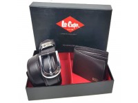 Original Lee Cooper Belt & Wallet Gift Set LGS S 006 - 7139 (Black)