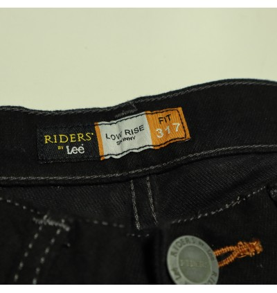 Original Riders By Lee Low Rise Skinny Narrow Jeans 317-50221 (Black)