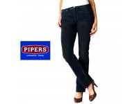 ORIGINAL PIPERS JEANS WOMEN STRAIGHT SLIM P959- 49678 (DRK GREEN)