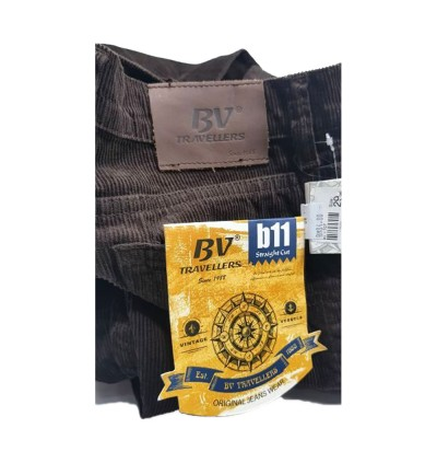 Original BV Travellers Jeans Corduroy Straight Cut B11-104 (L.Brown)