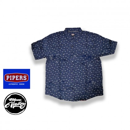 [ORIGINAL] Pipers Plus Size Printed Shirt Short Sleeves (P680-5680B)