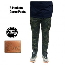 Original BV Travellers 6 Pockets Cargo Pants AK7217-3 (Camo Green)