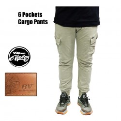 Original BV Travellers 6 Pockets Cargo Pants 8786-1 (Khaki Colour)