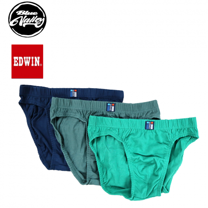 Edwin Underwear 100% Cotton 3pcs EV1444-3 (Random Colour)