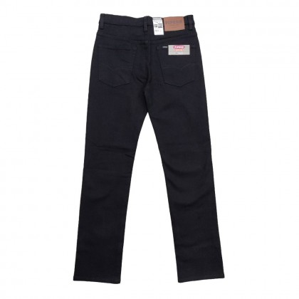 Pipers Men's Stretchable Black Jeans (Regular Fit)