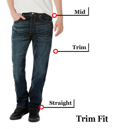 Pipers Trim Fit Jeans P910-23610 (Black Washed)