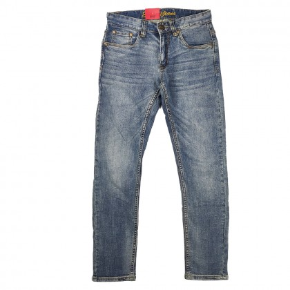 Exhaust Skinny Stretchable Jeans B89-60676NSK-38 (Blue)