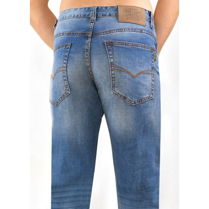 Exhaust Skinny Stretchable Jeans B89-60677NSK-37 (Faded Blue)