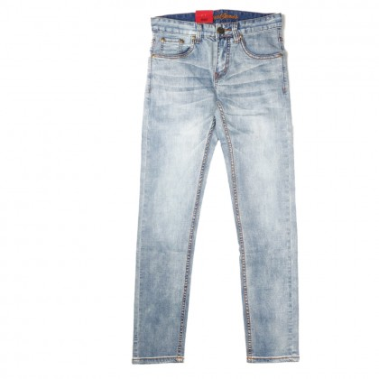 Exhaust Skinny Stretchable Jeans B89-60677NSK-35 (Faded Light Blue)