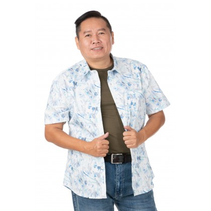 DR.CARDIN Printed Shirt Big Size Smart Fit CTS3442