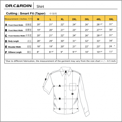 DR.CARDIN Printed Shirt Big Size Smart Fit CTS3444