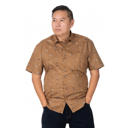 DR.CARDIN Printed Shirt Big Size Smart Fit CTS3445