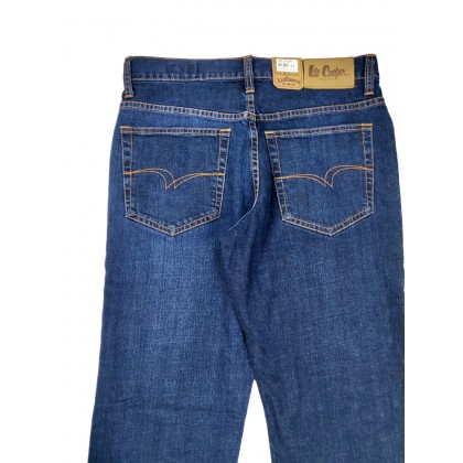 Lee Cooper Stretchable Seasoned Blue Jeans (Straight Cut)
