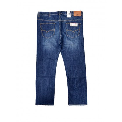 Pipers Mens Jeans Trim Fit P910-53389 (Blue)