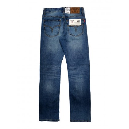 GA Blue Straight Fit Stretchable Jeans Normal Rise 99131904