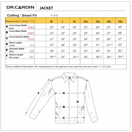DR.CARDIN Loose Fit Polyester Executive Jacket CJ3441