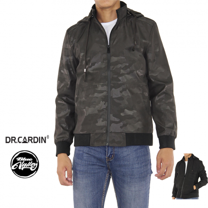 DR.CARDIN Slim Fit Army Texture Hooded Jacket CJ3364