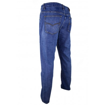 Exhaust Straight Cut Stretchable Jeans B6960909NST (Light Blue)