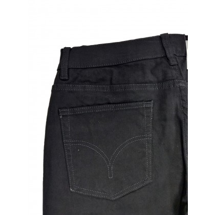 GA Blue Straight Fit Stretchable Black Jeans Normal Rise 99131899
