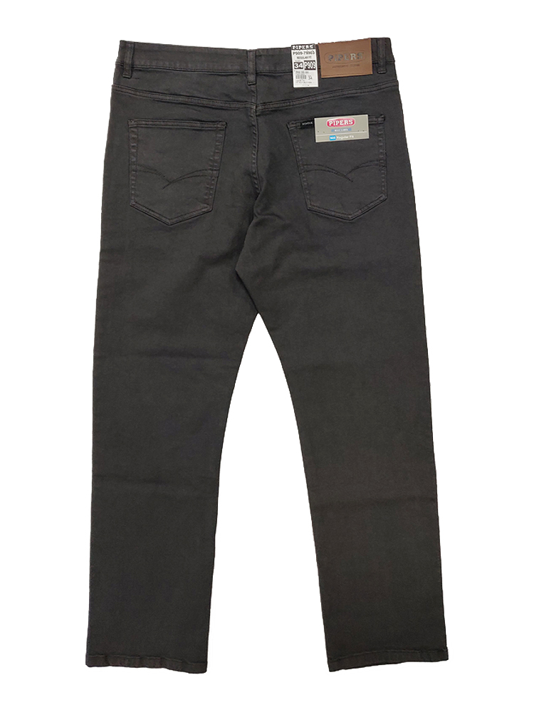 Pipers Blue Label Regular Fit Stretchable Jeans P909-79903 (Dark Grey)